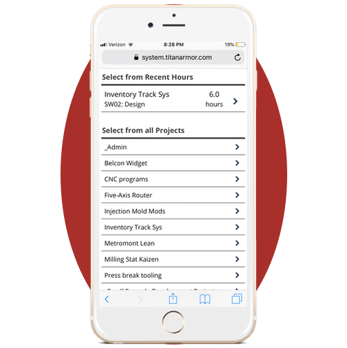 Titan Armor R&D Tax Software on iPhone.